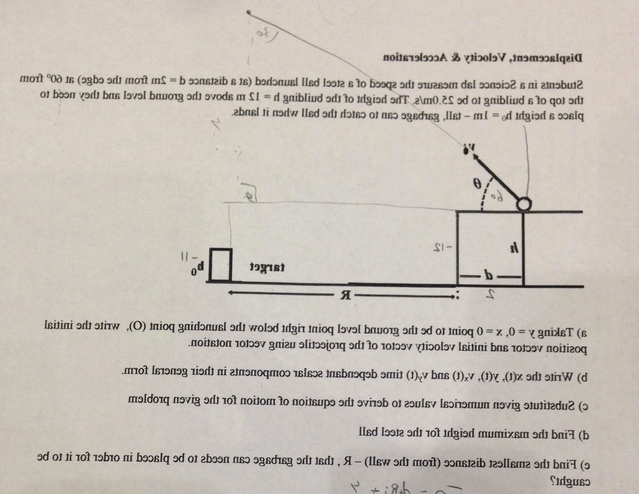 Distance and Displacement Worksheet