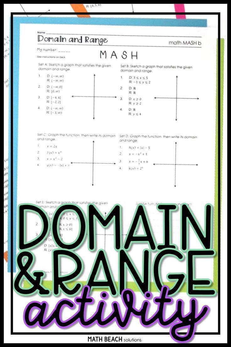 Domain and Range Practice Worksheet
