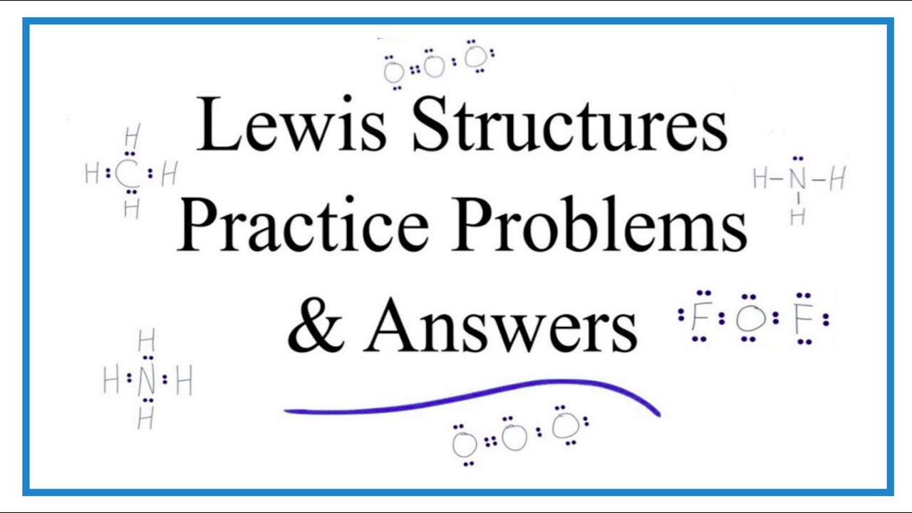 Drawing Lewis Structures Worksheet