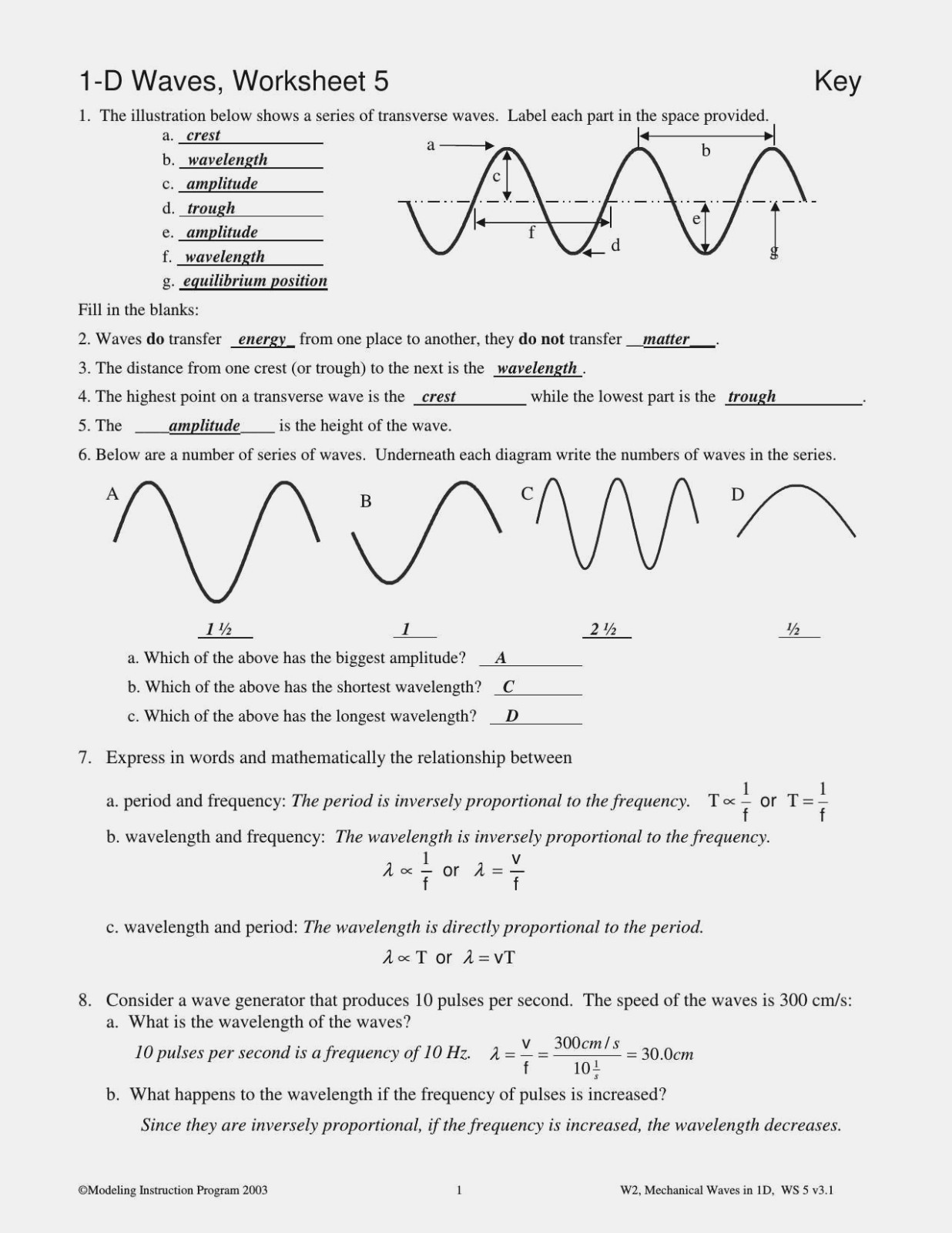 Electromagnetic Spectrum Worksheet High School