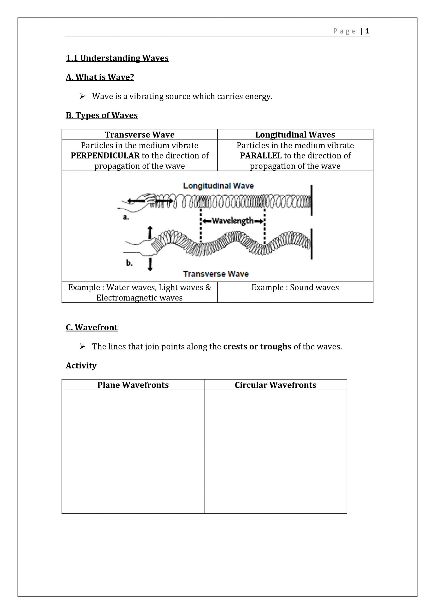 Electromagnetic Waves Worksheet Answers