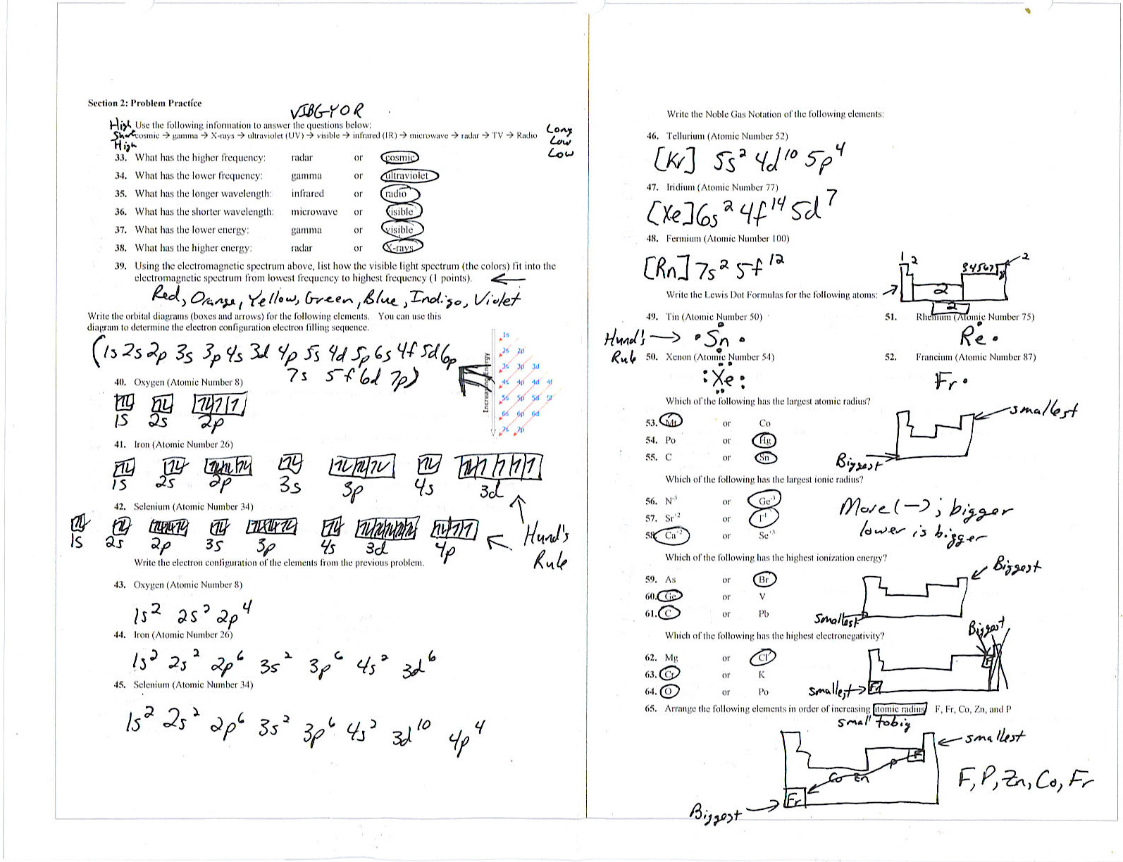 30 Electron Configuration Practice Worksheet Answers ...