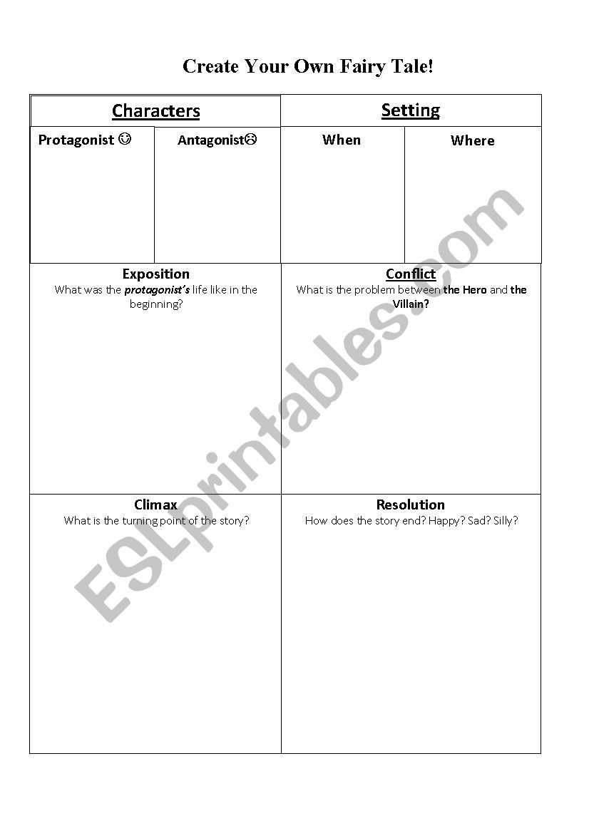 Elements of Fiction ESL worksheet by jkateaham