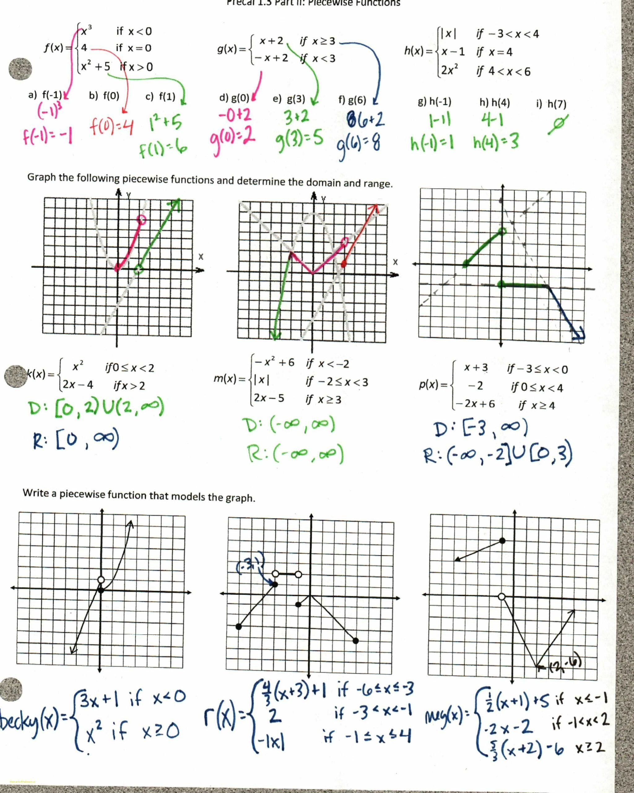 Exponential Functions Worksheet Answers