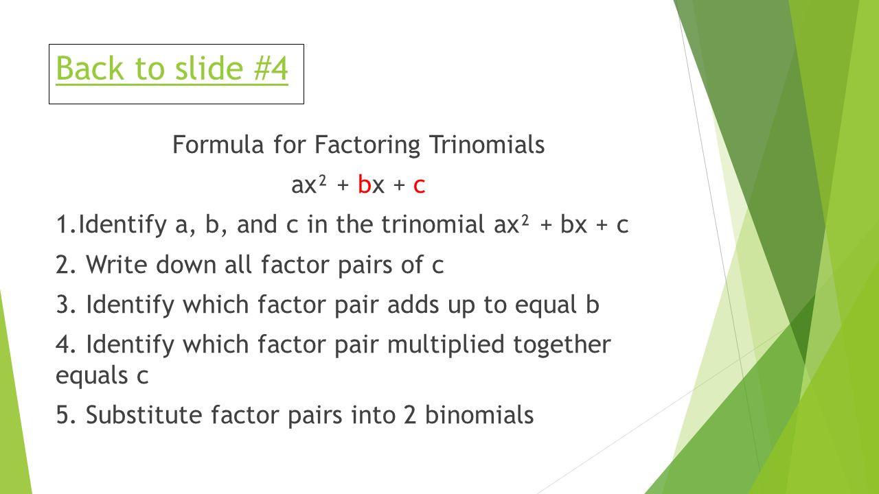 Factoring Ax2 Bx C Worksheet