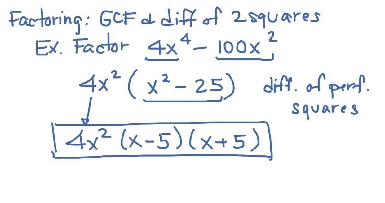 Factoring Difference Of Squares Worksheet