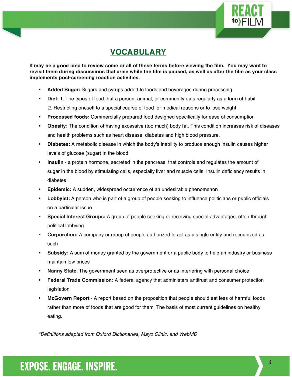 Fed Up Viewing Guide Worksheet Answers