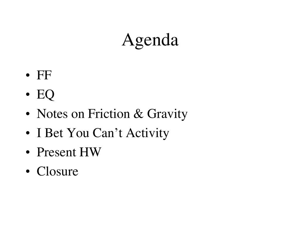 Friction and Gravity Worksheet Answers