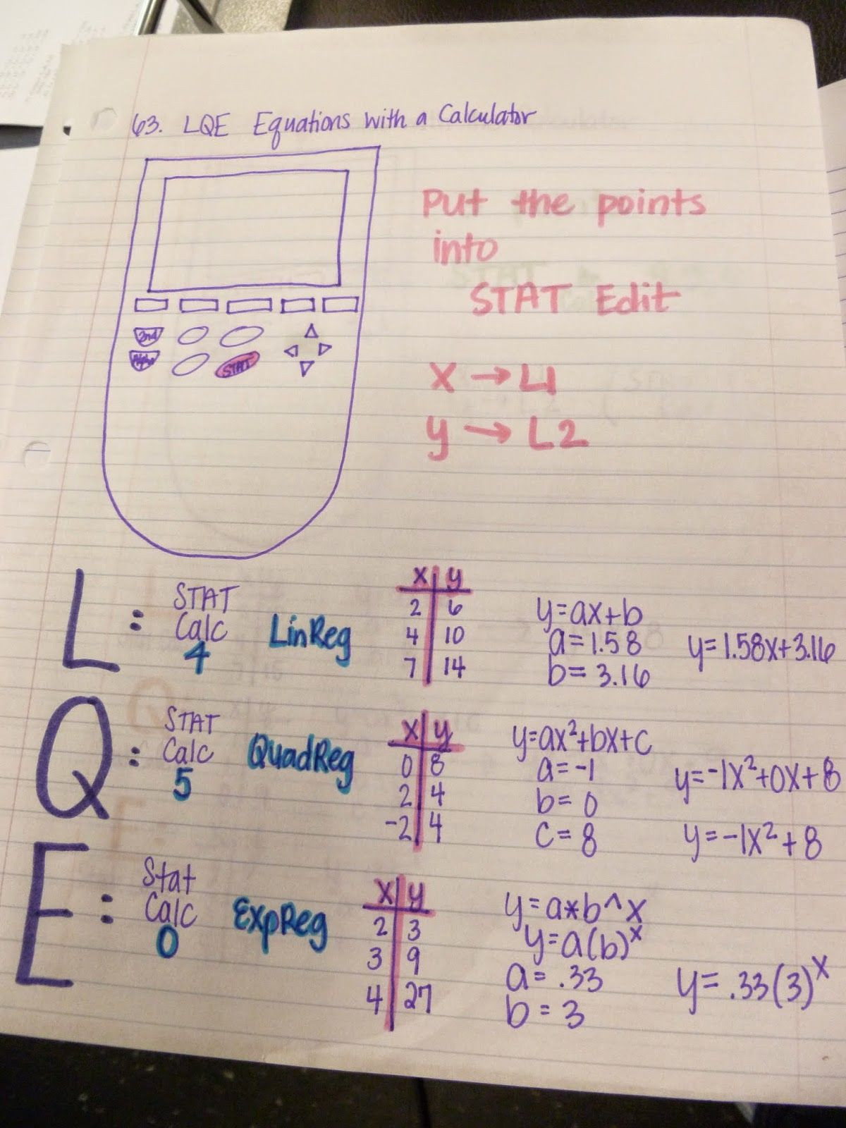 From Linear to Quadratic Worksheet