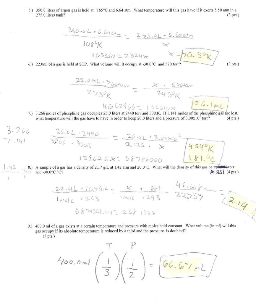31 Gas Variables Worksheet Answers | Education Template