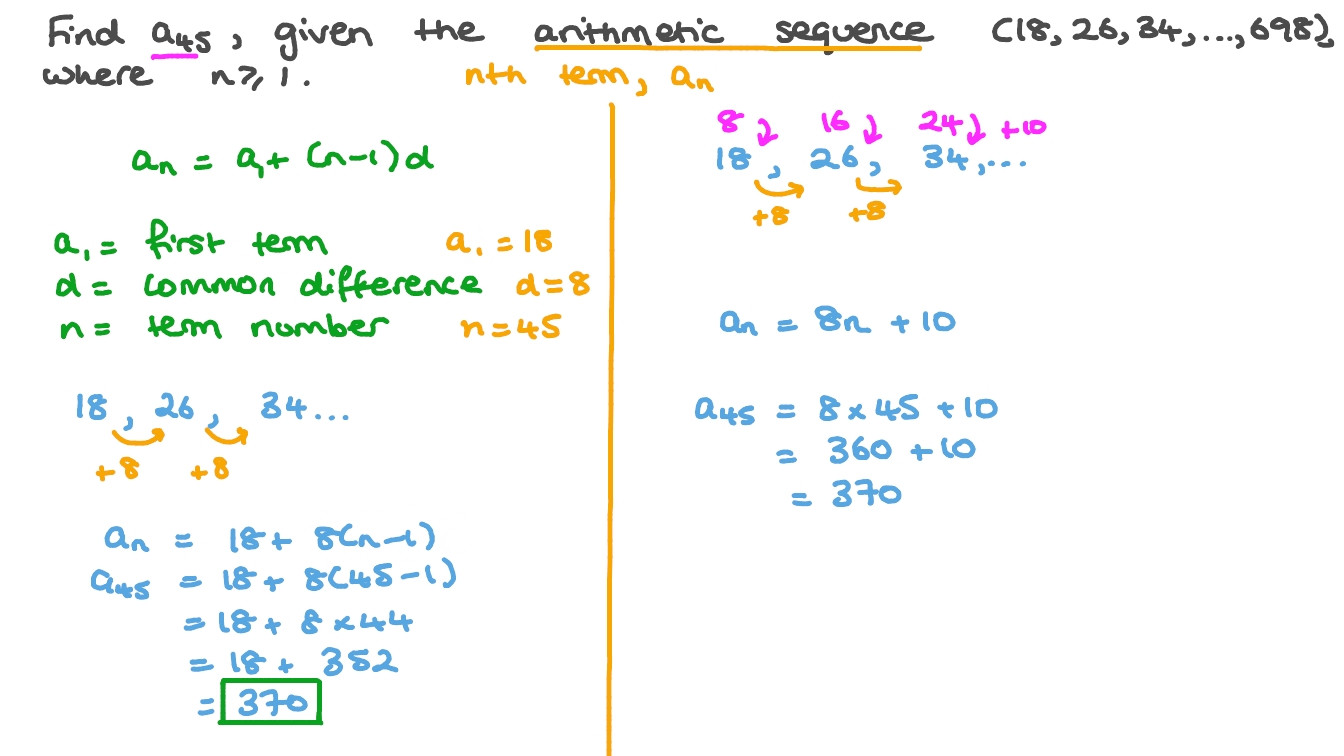 Geometric and Arithmetic Sequence Worksheet