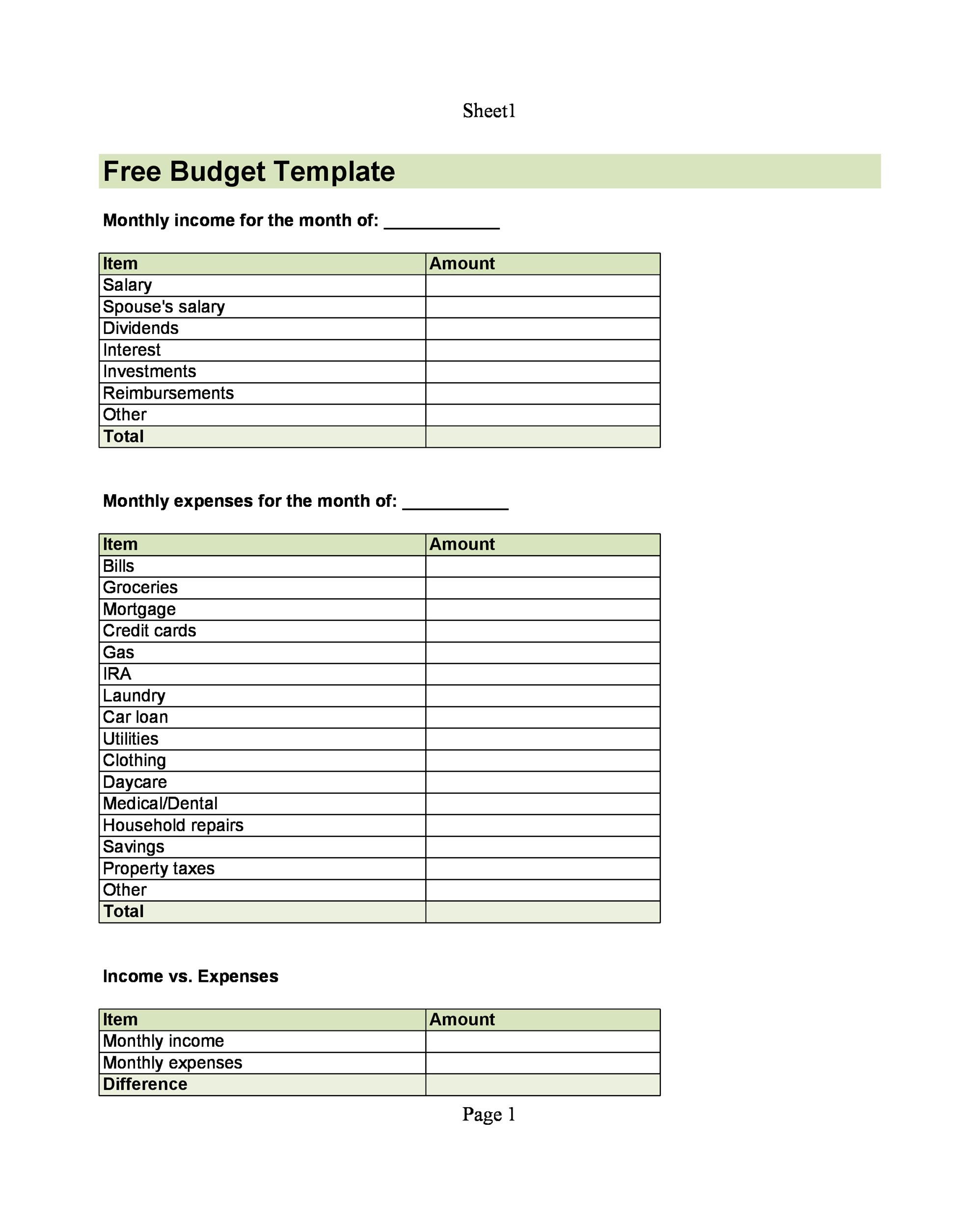 Home Daycare Tax Worksheet