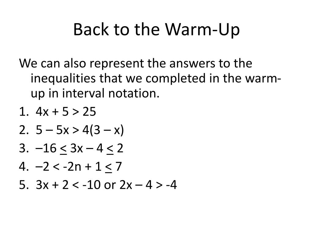 Interval Notation Worksheet with Answers