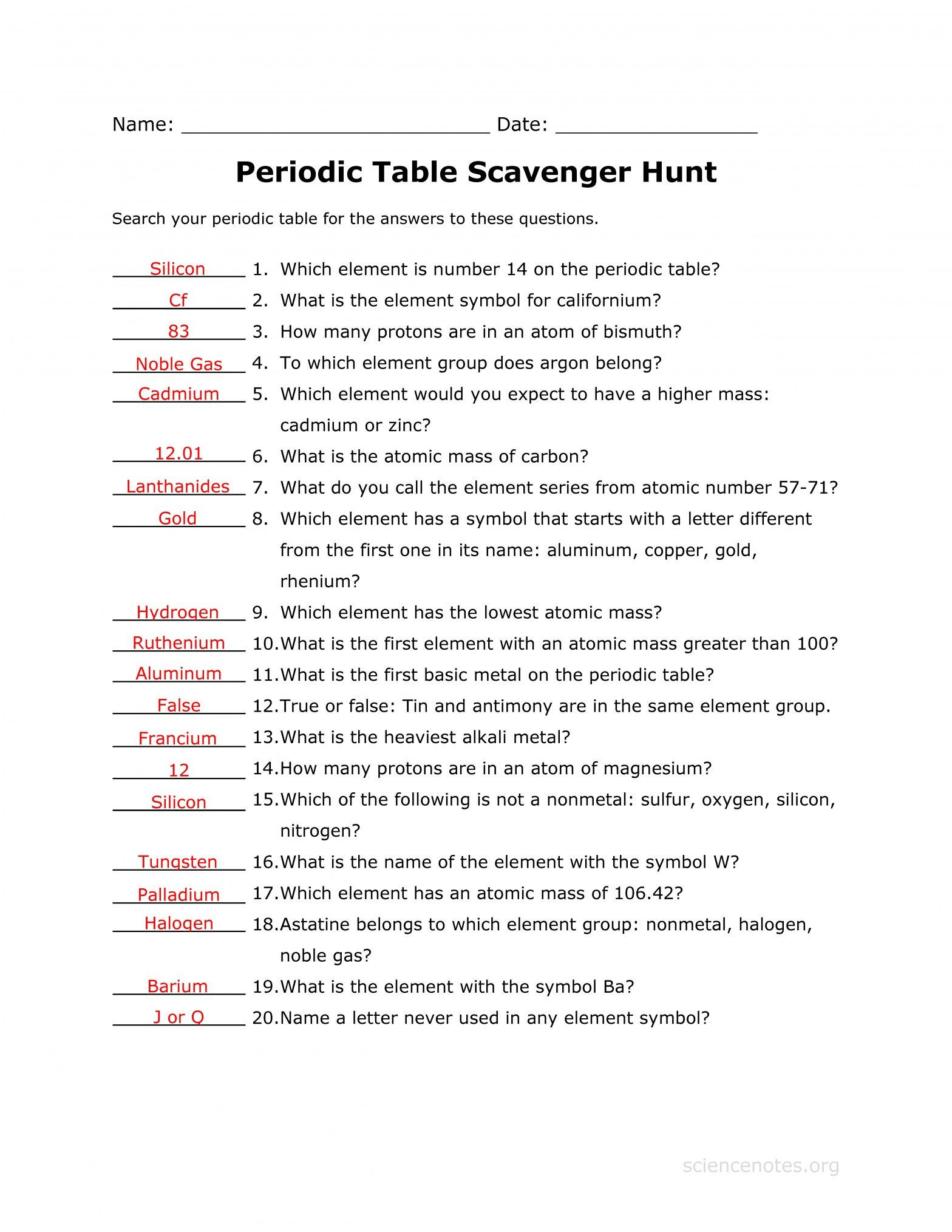Isotope Practice Worksheet Answers