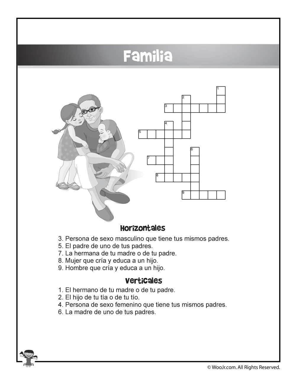 La Familia Worksheet In Spanish