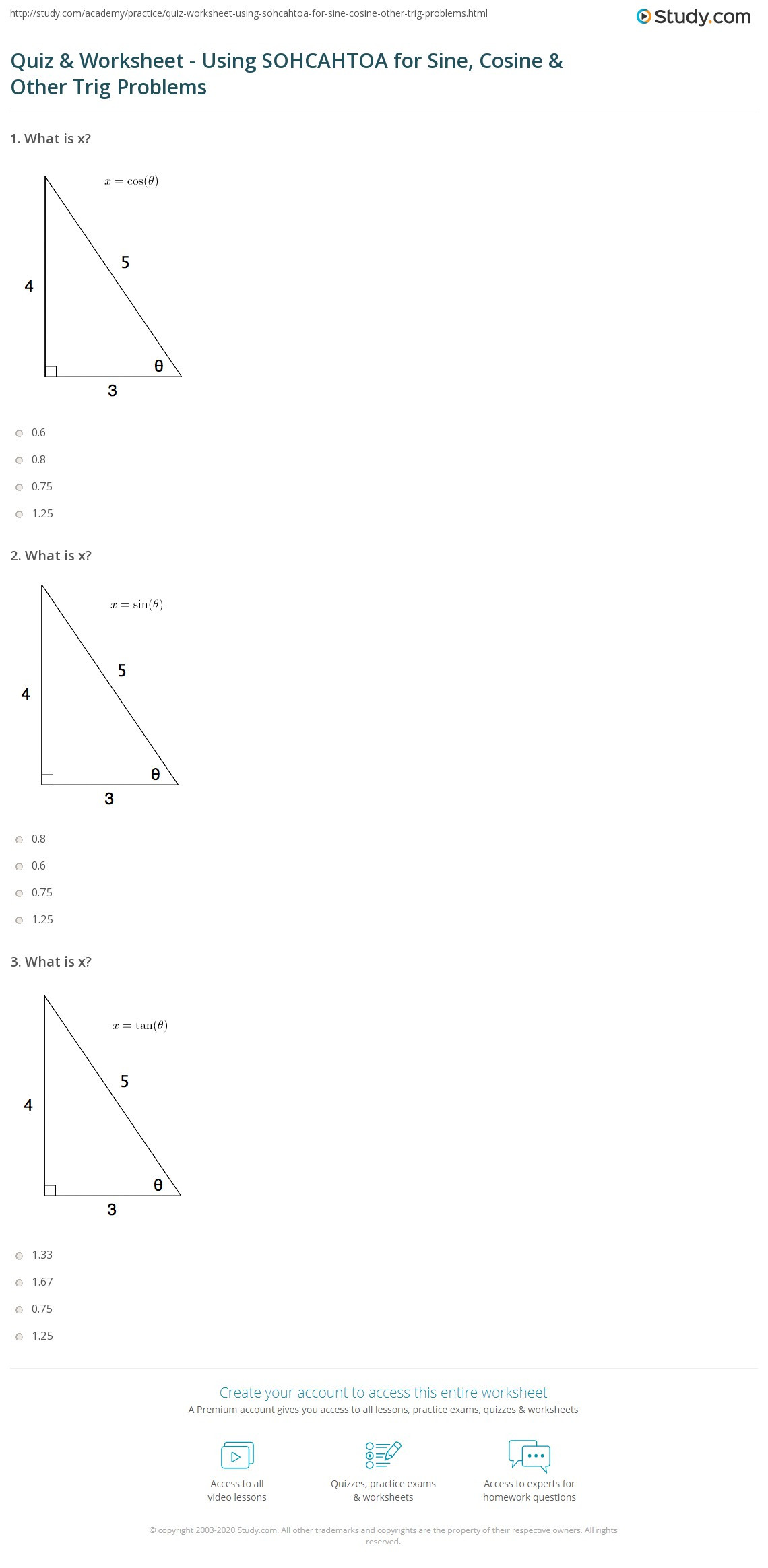 Law Of Sines Worksheet