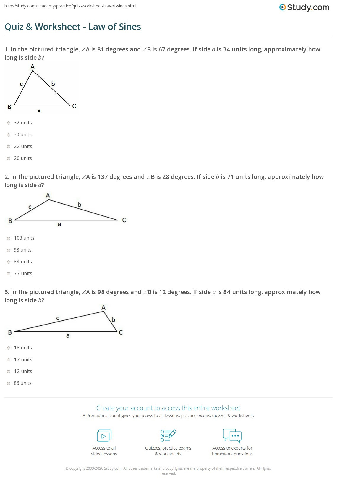 Law Sines Worksheet Geometry