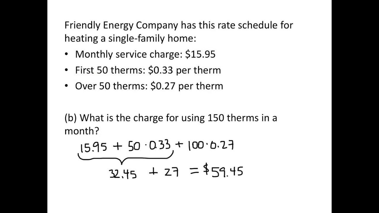 Linear Function Word Problems Worksheet