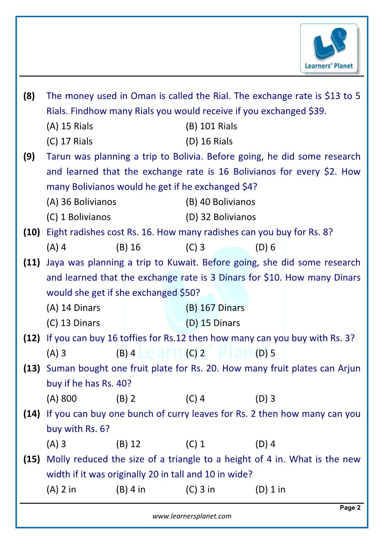 Linear Word Problems Worksheet