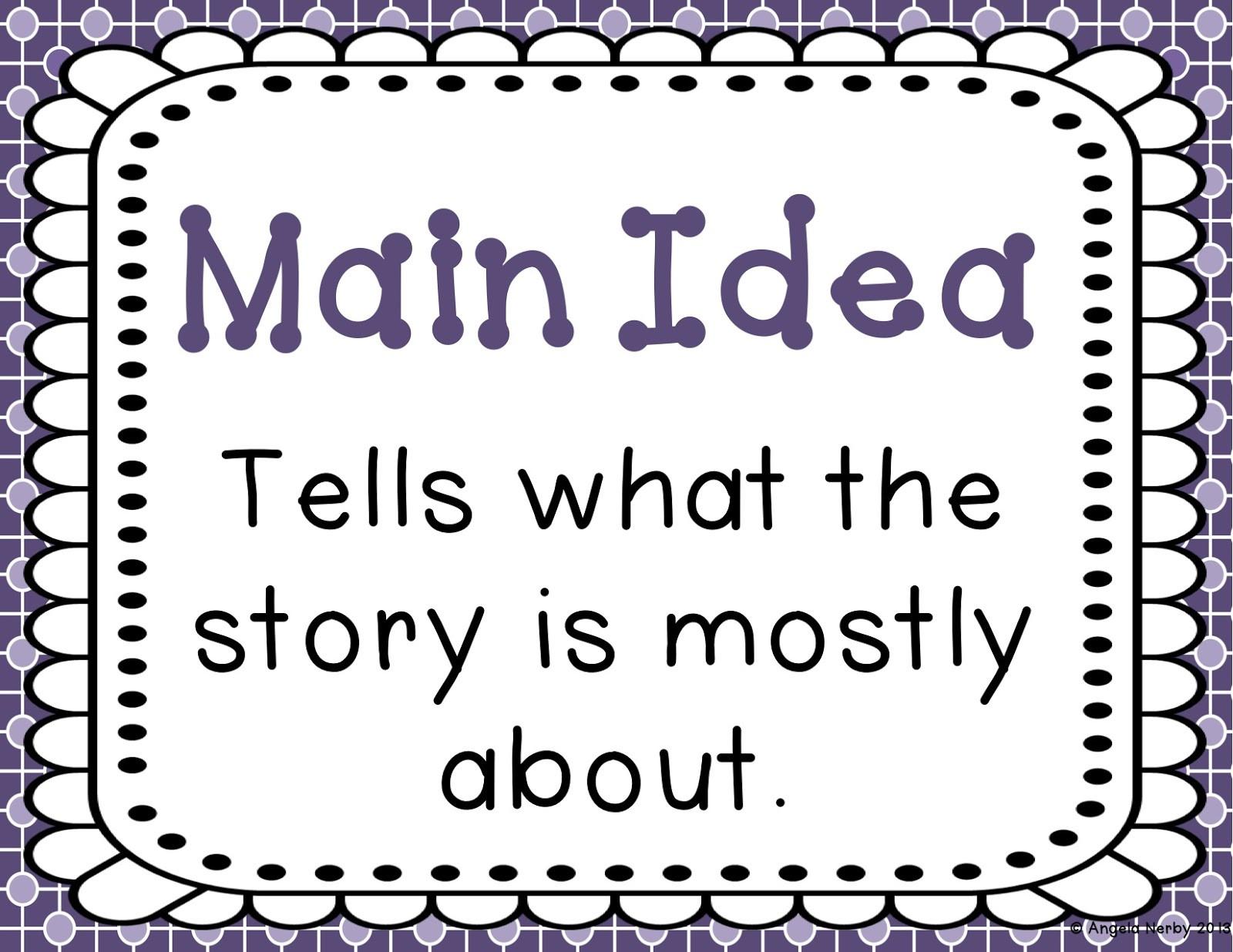 Main Idea Worksheet 4th Grade