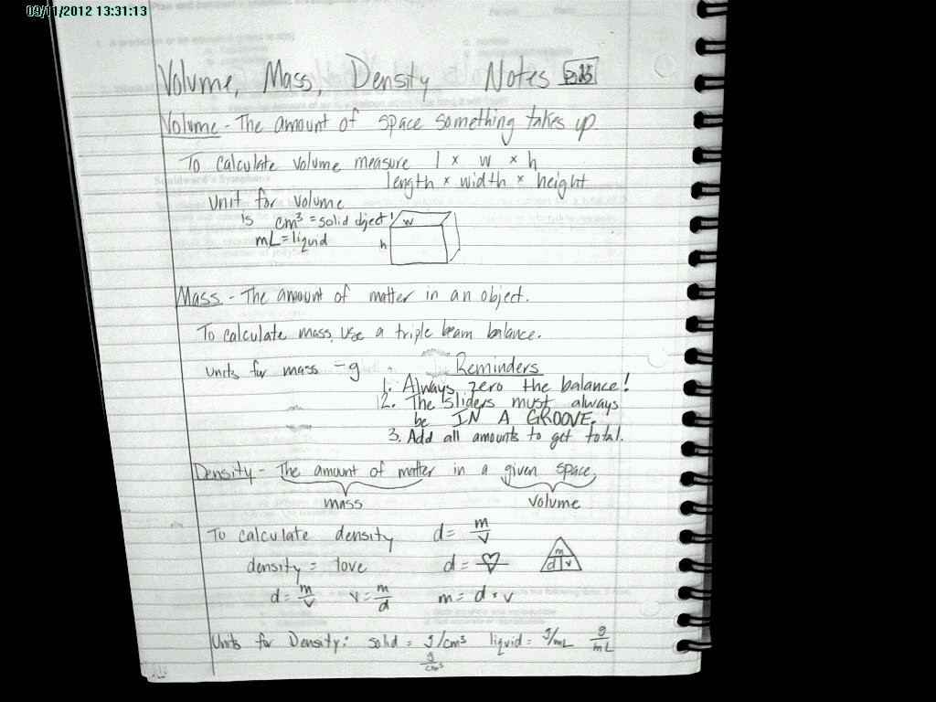 Mass Volume Density Worksheet