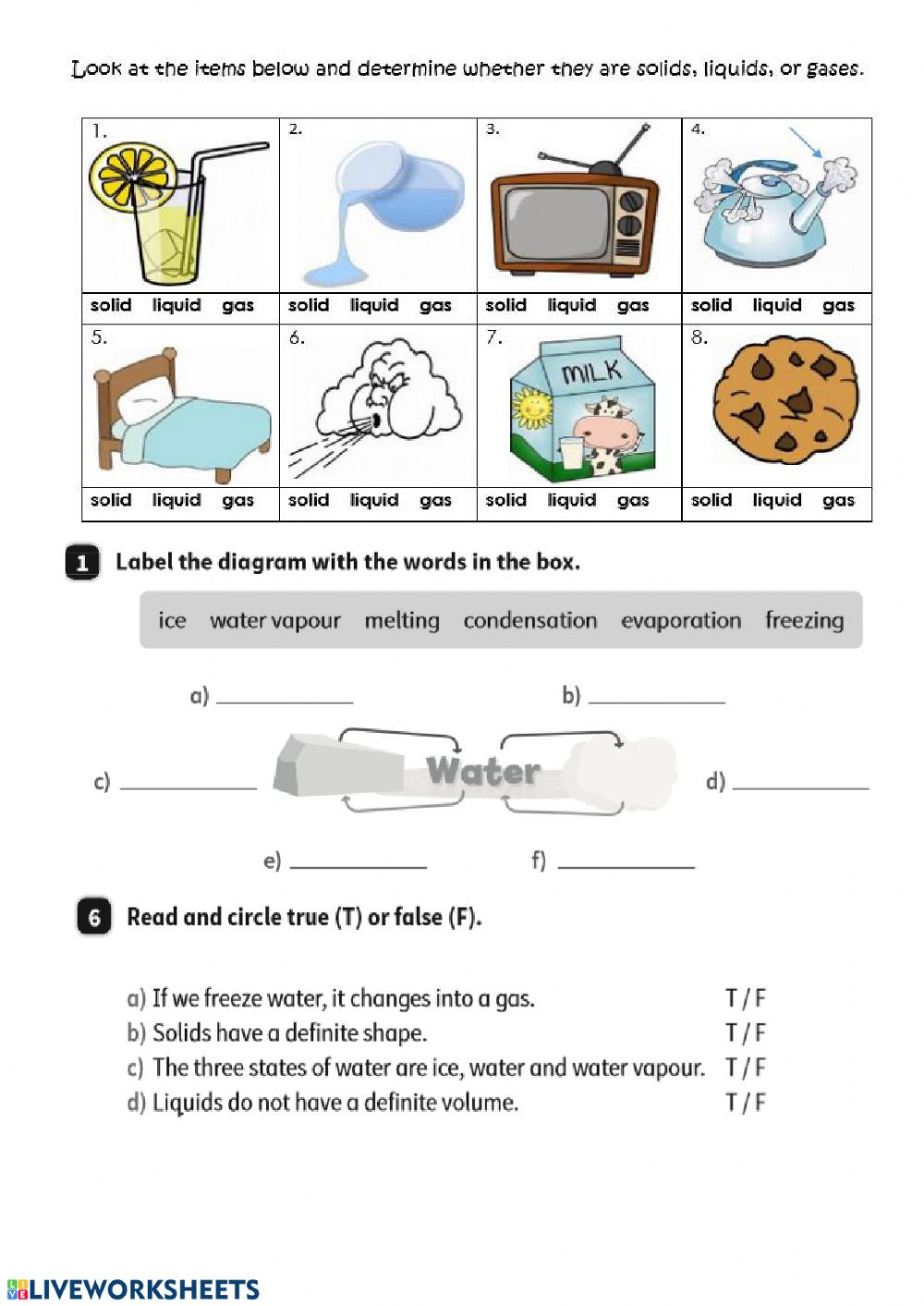 Unit 5 Matter and energy Interactive worksheet