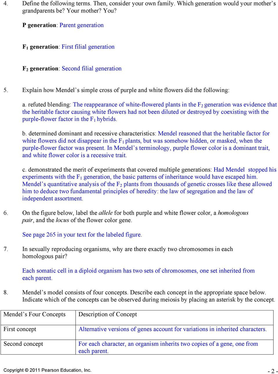 30 Mendelian Genetics Worksheet Answer Key | Education ...