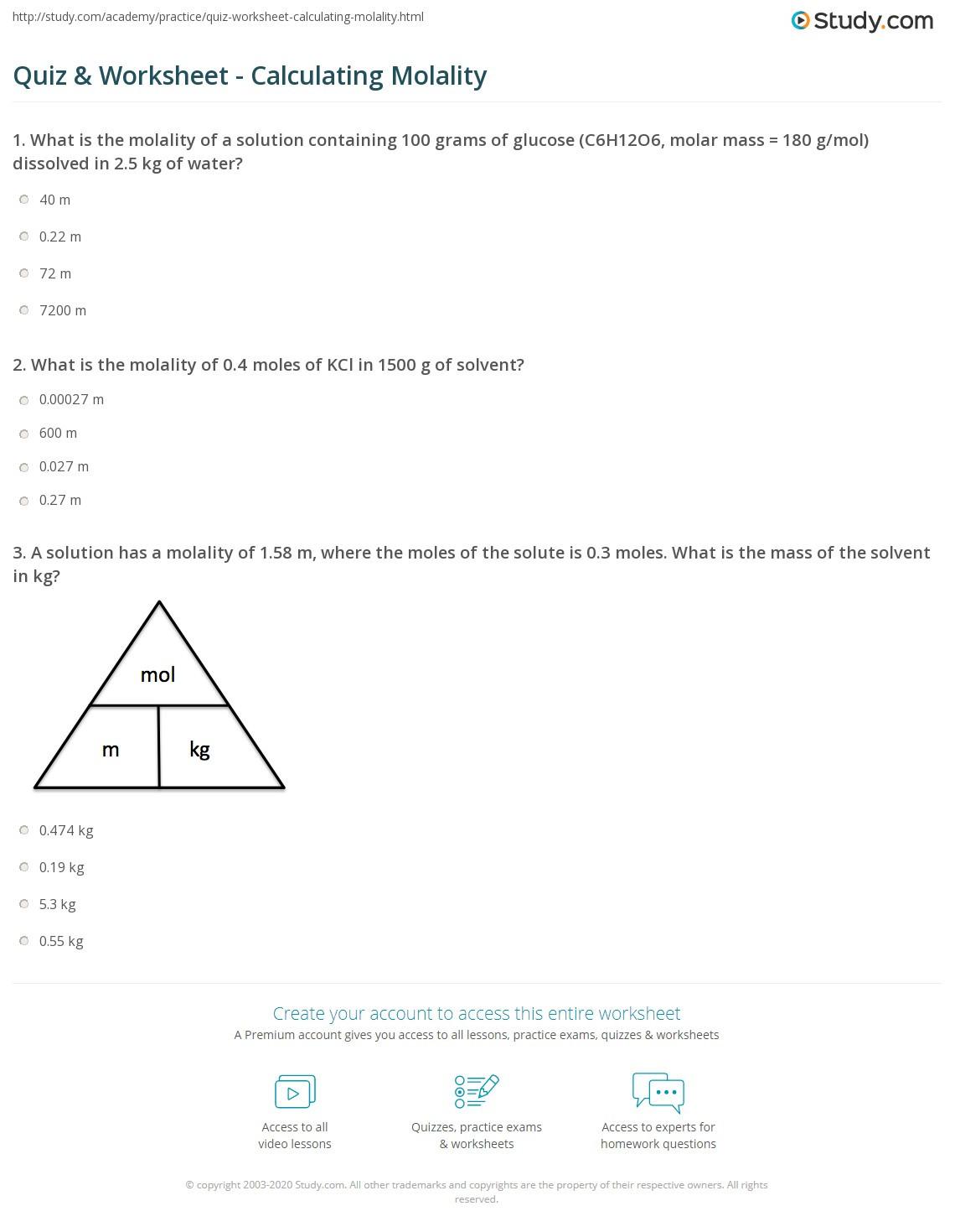 Molar Mass Practice Worksheet