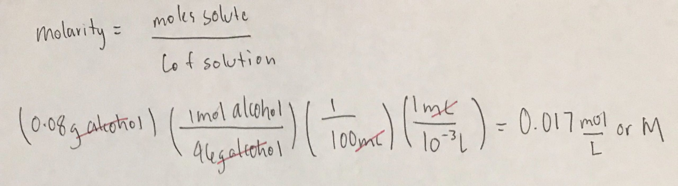 Molarity Practice Worksheet Answer