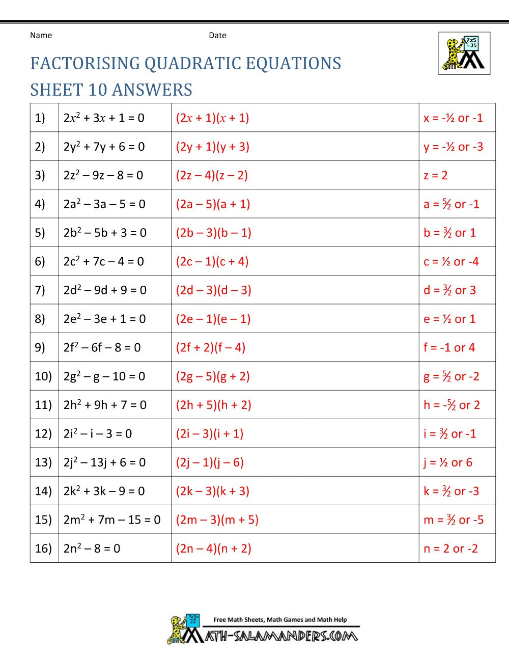 Multiplying Polynomials Worksheet Answers