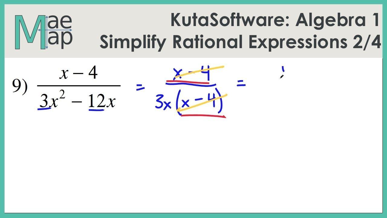 Multiplying Rational Expression Worksheet