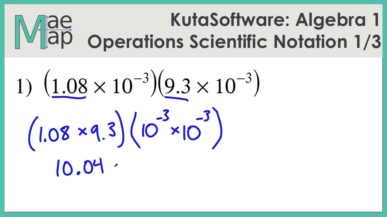 Multiplying Scientific Notation Worksheet