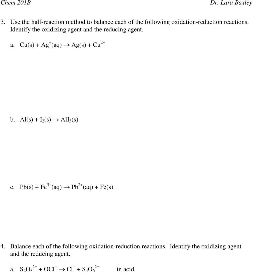 30 Oxidation Reduction Worksheet Answers | Education Template