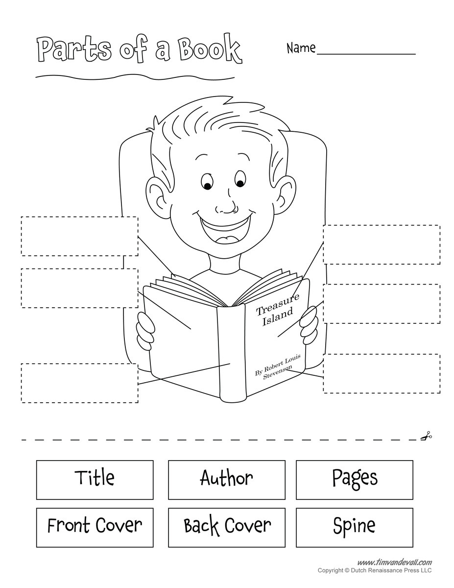 Parts Of A Book Worksheet
