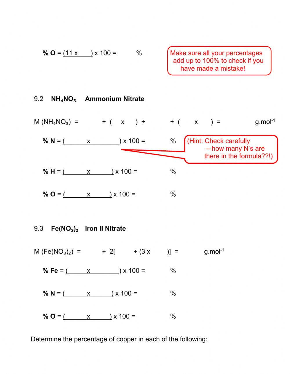 31 Percent Composition Worksheet Answers   Education Template