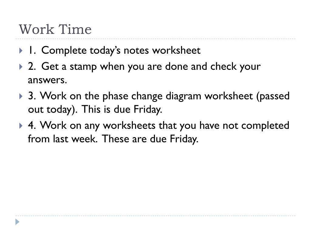 Phase Change Worksheet Answers
