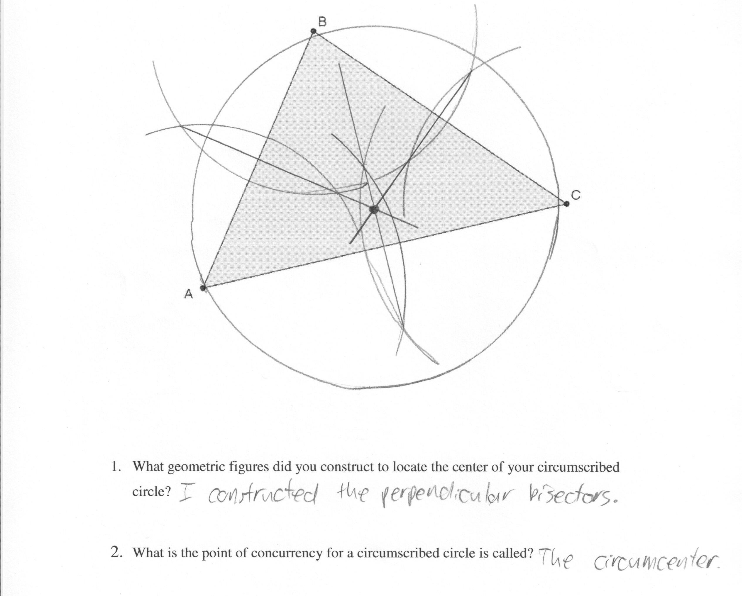 Points Of Concurrency Worksheet Answers