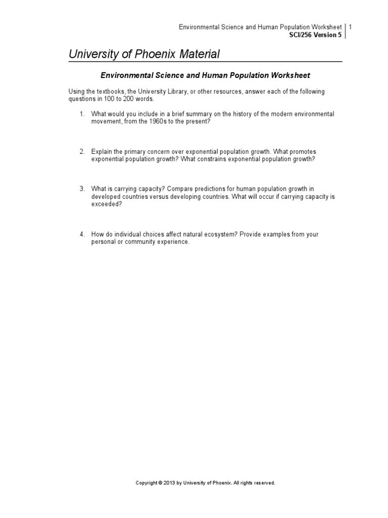 Population Growth Worksheet Answers