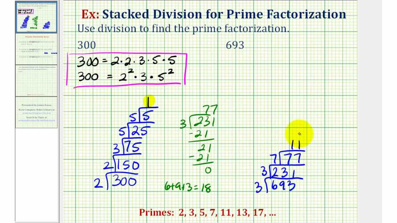 Prime Factorization Tree Worksheet