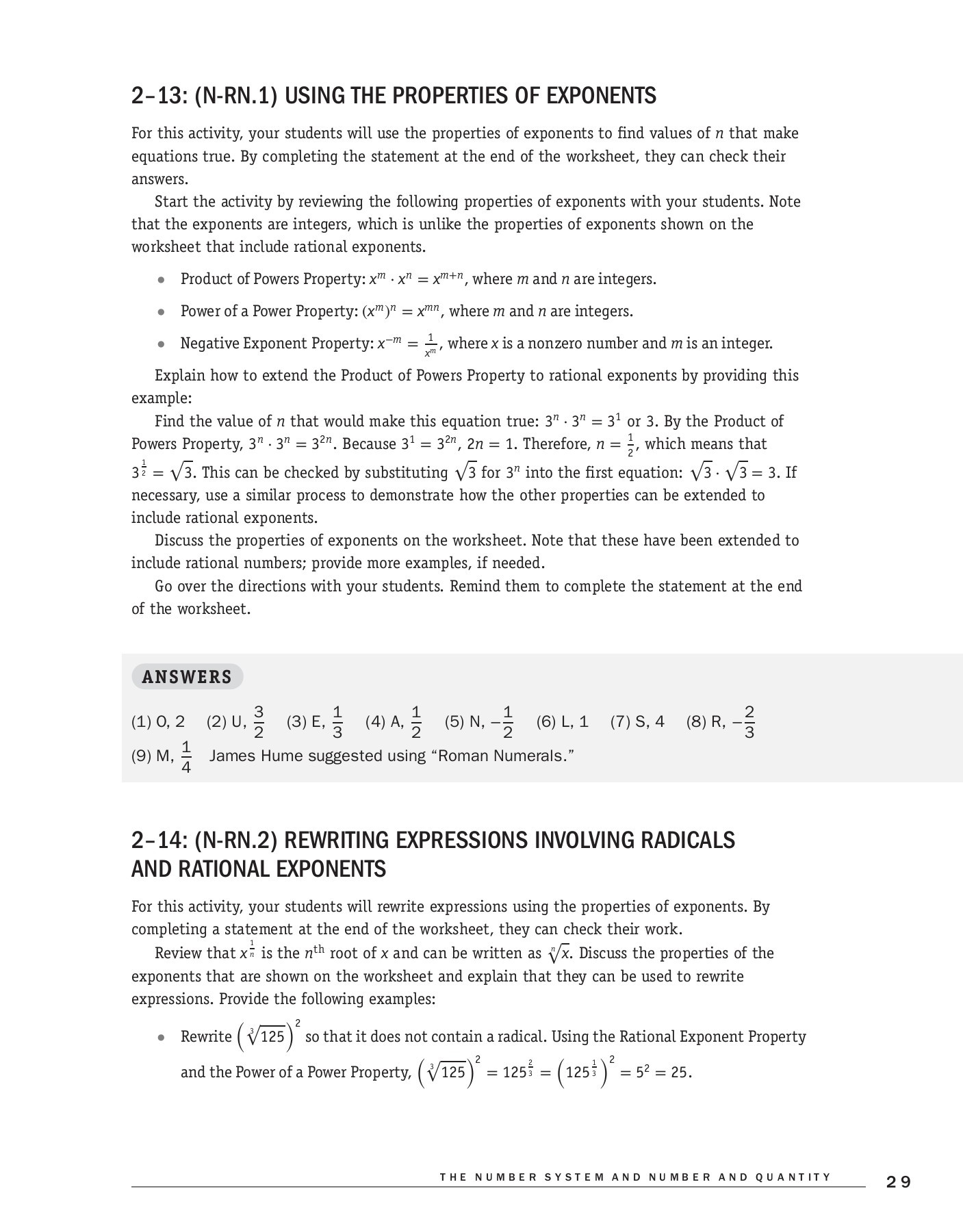 Properties Of Exponents Worksheet Answers