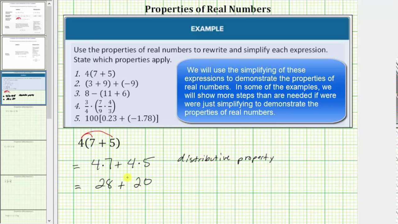 Properties Of Real Numbers Worksheet