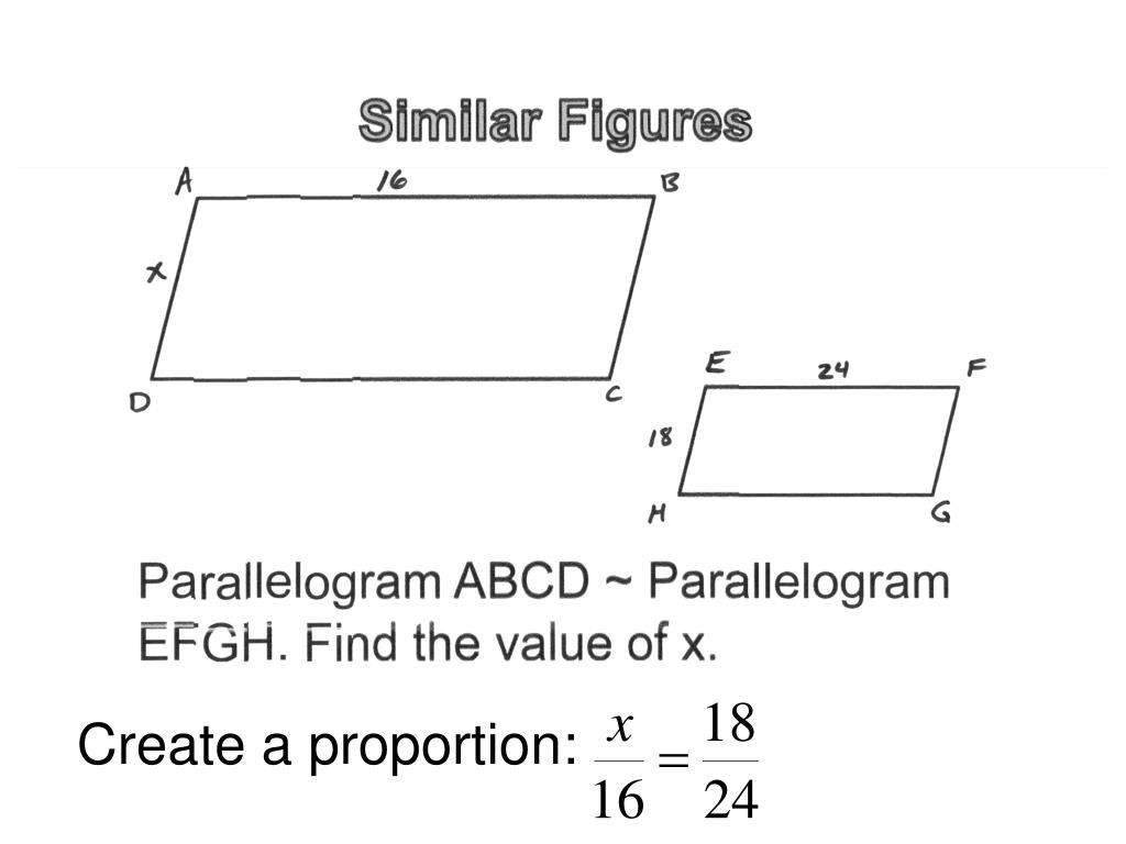Proportions and Similar Figures Worksheet