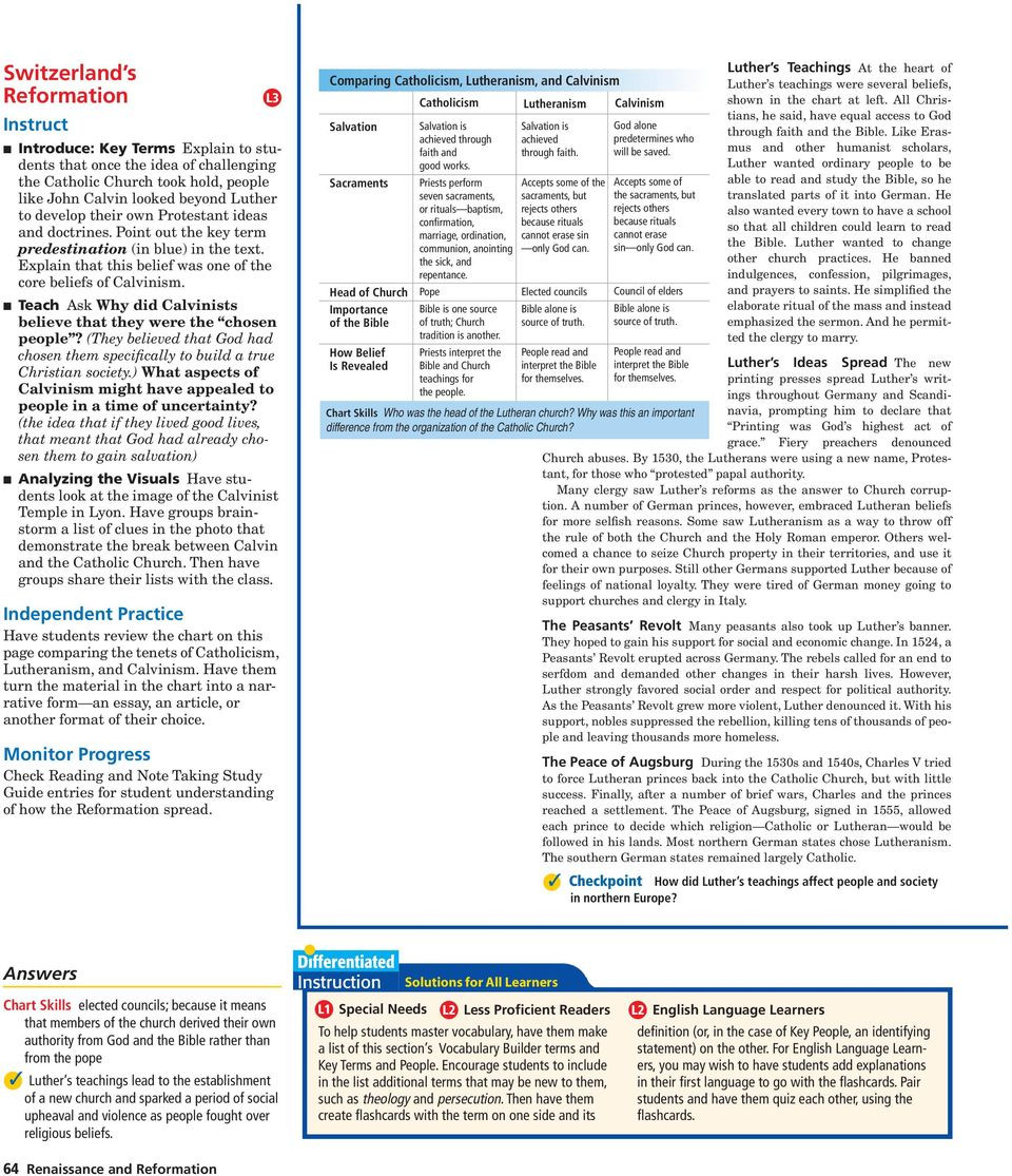 30 Protestant Reformation Worksheet Answers | Education ...