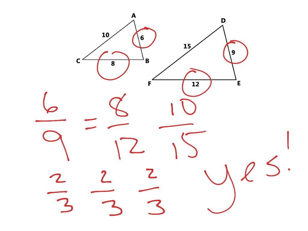 Proving Triangles Similar Math geometry Triangles