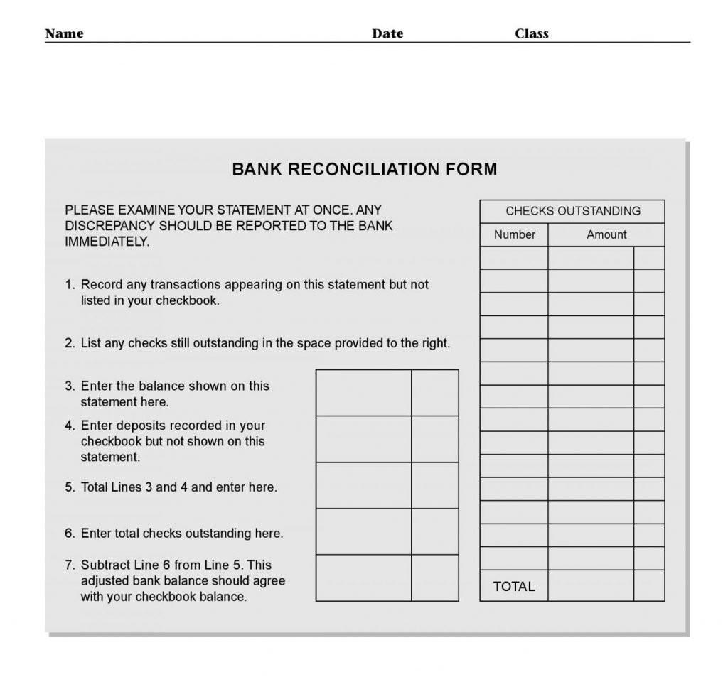Checking Account Bank Statements 2 Worksheet