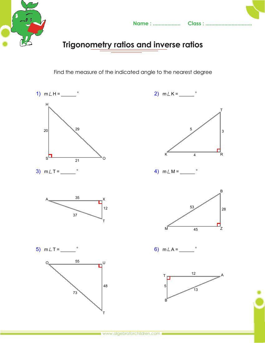 Basics trigonometry problems and answers pdf for grade 10