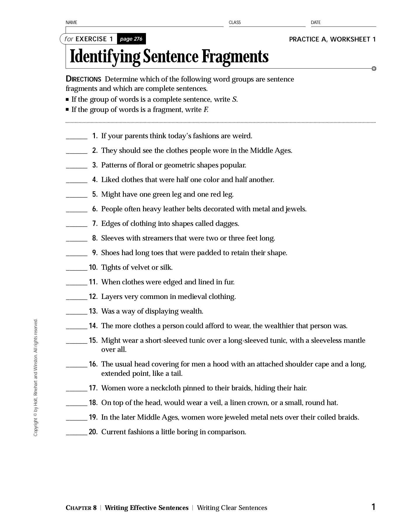 30 Run On Sentence Worksheet | Education Template