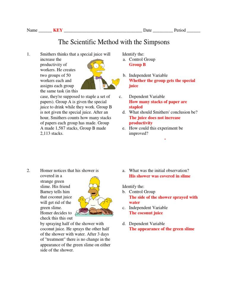 Scientific Method Worksheet Pdf