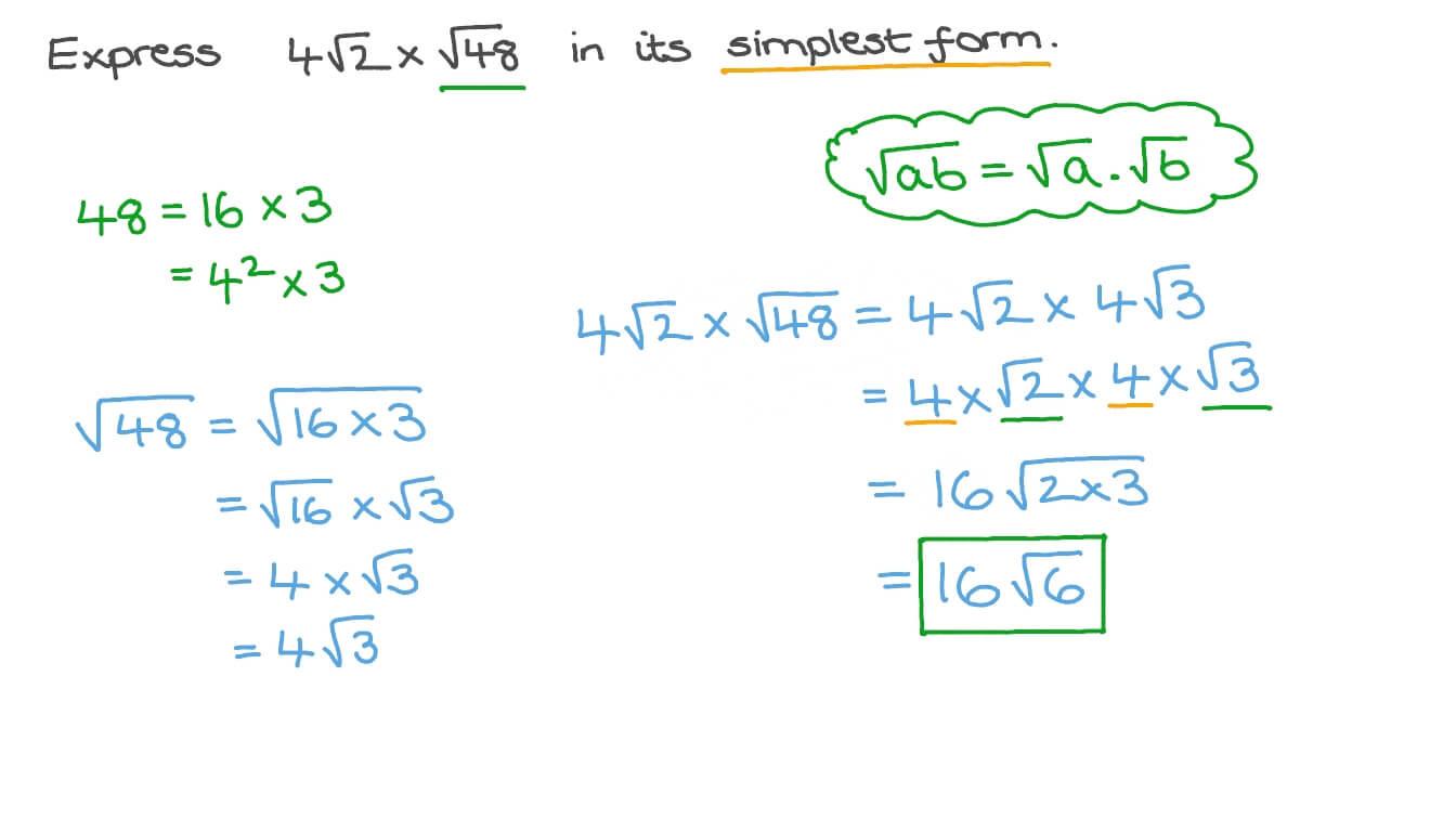 Simplify Square Root Worksheet