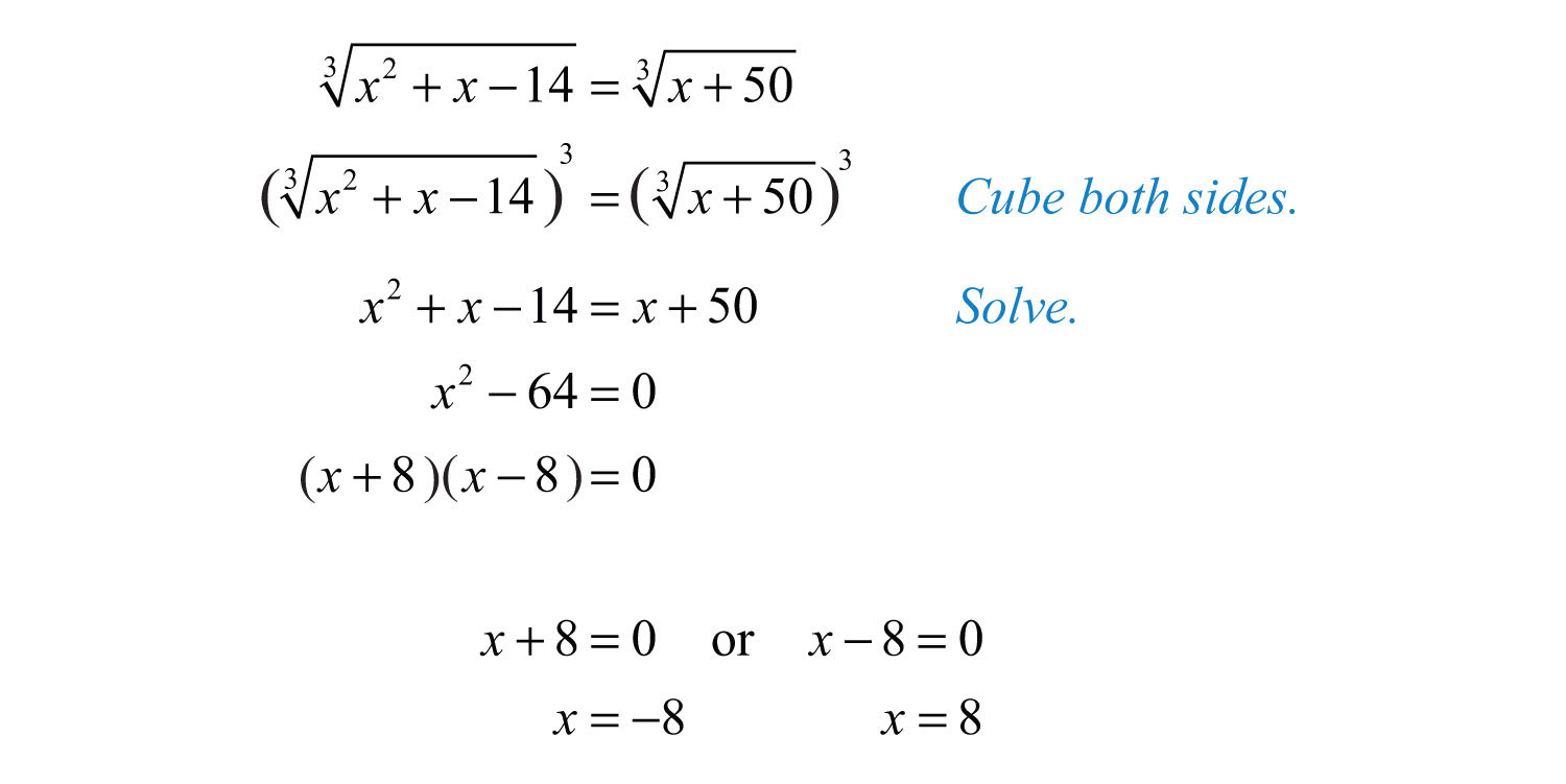 Solve Radical Equations Worksheet